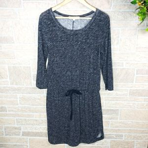 ANN TAYLOR LOFT Casual Cotton Dress Gray Size S